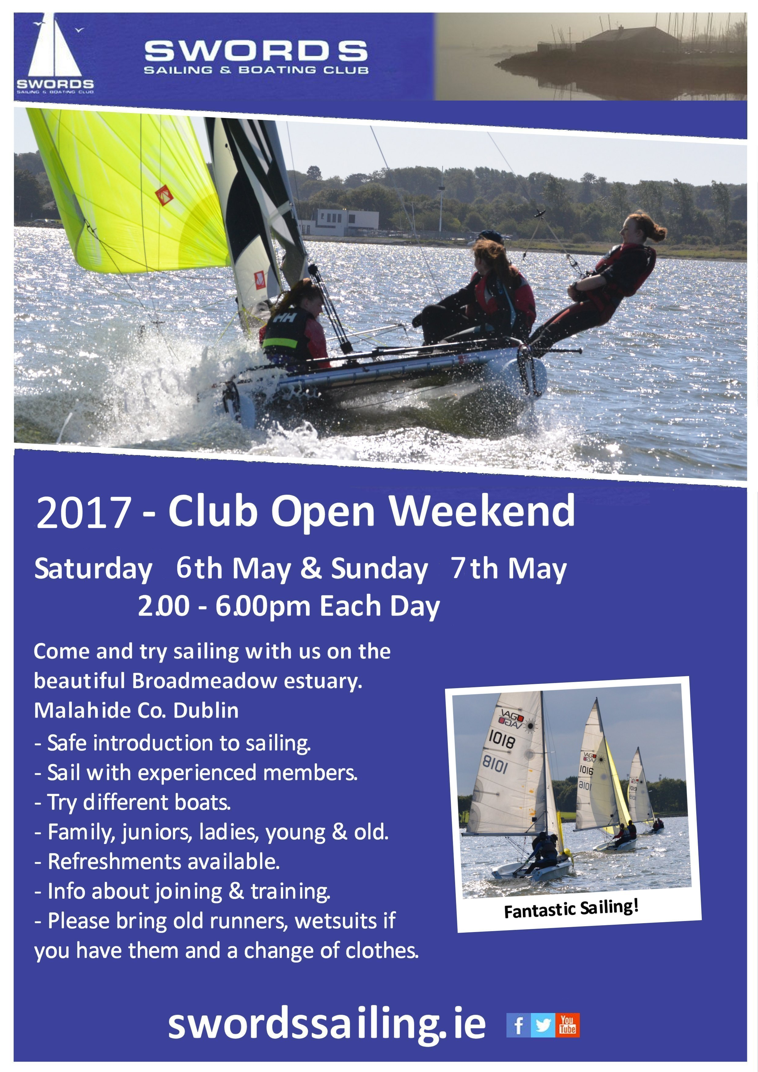 club open weekend swords sailing boating club. Black Bedroom Furniture Sets. Home Design Ideas